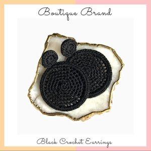Boutique Brand • Black Crochet Earrings